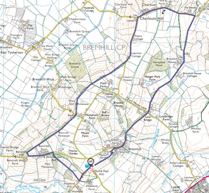 dumb post route map